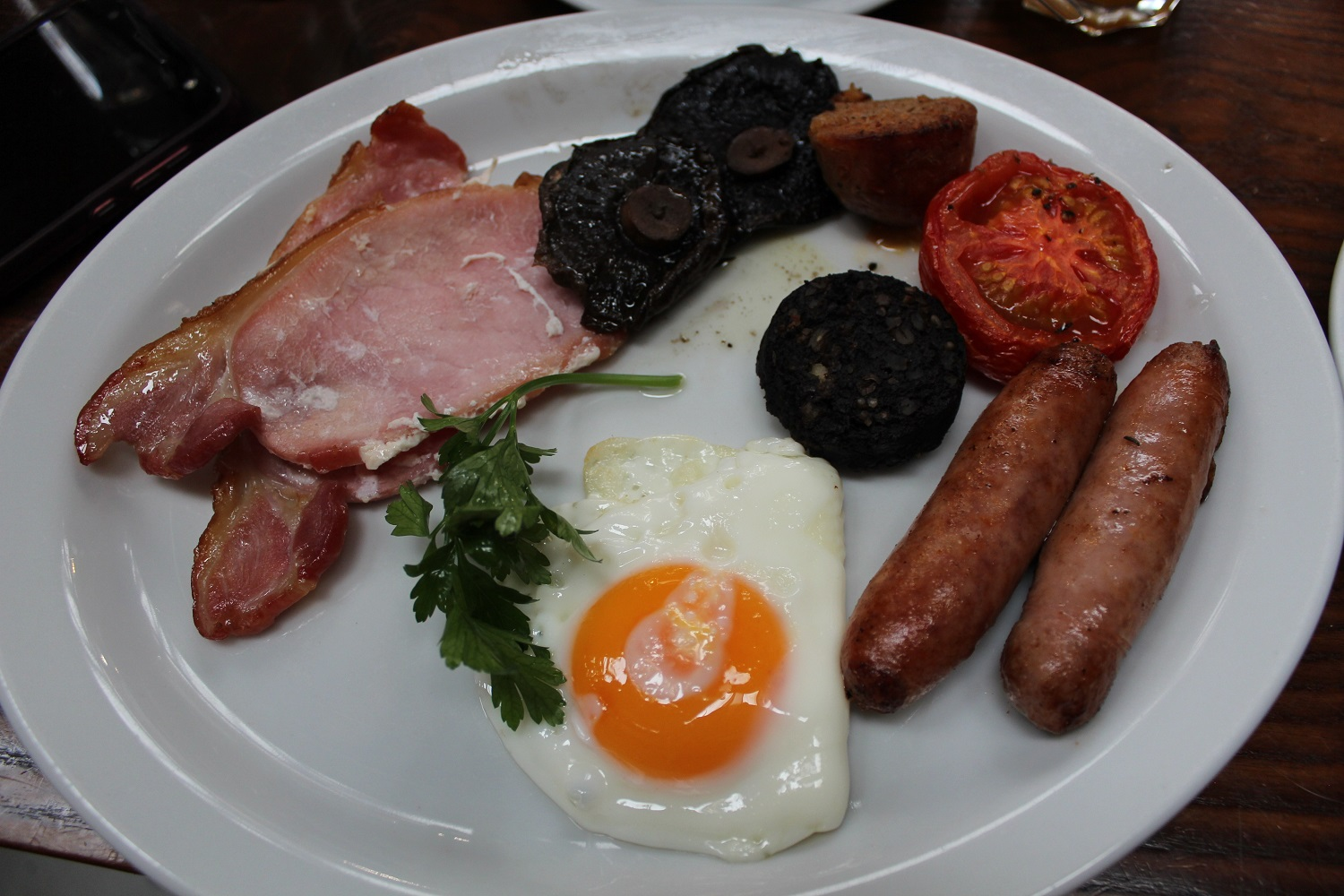 Traditional Irish breakfast in Cork